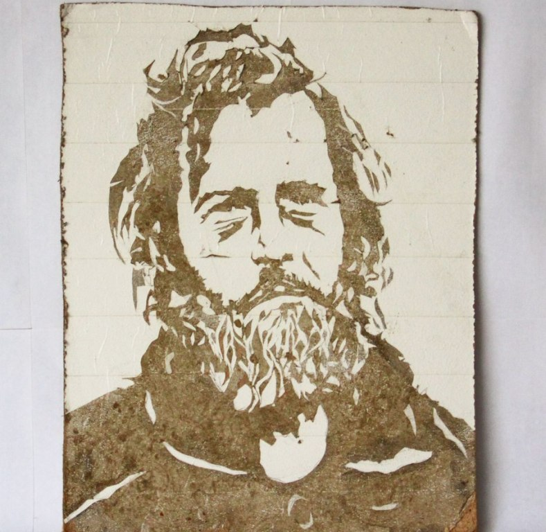 Уличный художник изЕкатеринбурга выставил нааукцион портрет бездомного, написанный грязью