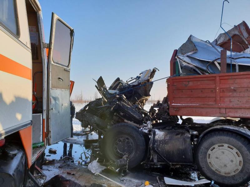 При столкновении вахтового автобуса с грузовым автомобилем наЯмале пострадали 14 человек