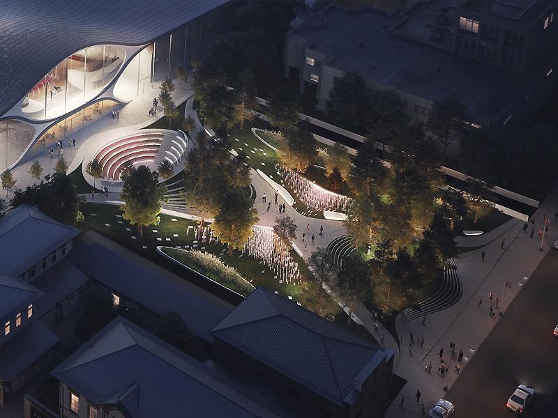 Для Свердловской филармонии решили построить немалый зал сизогнутой крышей